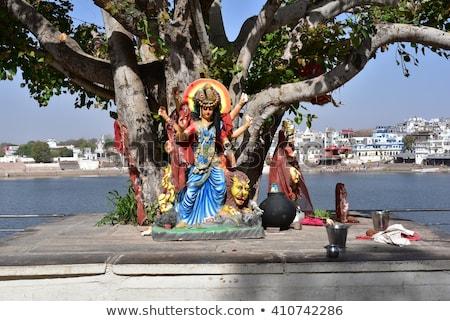 shiva statue at pushkar lake Stock photo © meinzahn