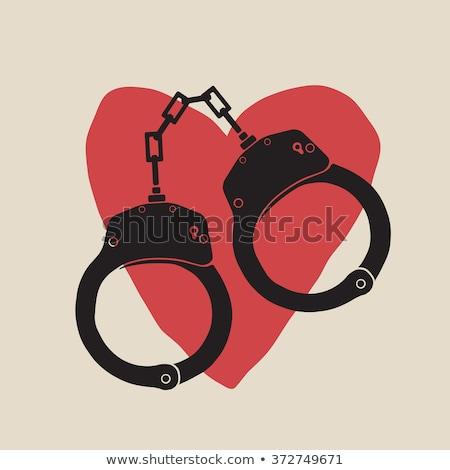 corazón · prisión · triste · Cartoon · detrás · ventana - foto stock © oleksandro