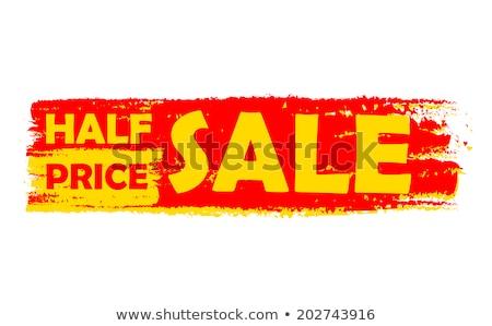 half · prijs · verkoop · teken · icon · label - stockfoto © marinini