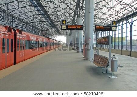 Empty train station Sheremetyevo  Stock photo © amok