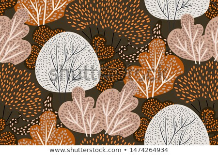 Abstract autumn design with colorful beads. Vector illustration. Stock photo © isveta