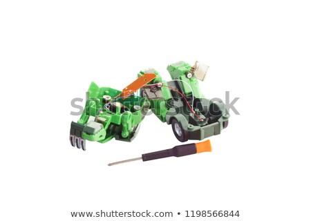 ひびの入った オーディオ ビデオ プレーヤー 壊れた コンパクト ストックフォト © vavlt