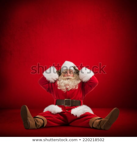Santa Claus sitting on floor and looks frustrated Stock photo © HASLOO