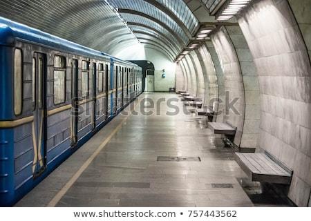 niebieski · metra · tłum · działalności · miasta · kobiet - zdjęcia stock © gemenacom