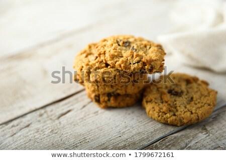 オートミール レーズン クッキー ガラス ストックフォト © sarahdoow