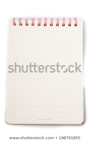 diariamente · nota · livro · isolado · branco · negócio - foto stock © hin255