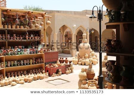 Aardewerk markt gebouw zon asia arab Stockfoto © w20er