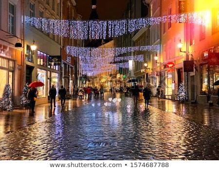 Sokak gece restoran tablo yürüyüş Stok fotoğraf © GeniusKp