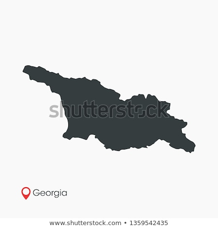 Silhouet kaart Georgië teken witte opschrift Stockfoto © mayboro