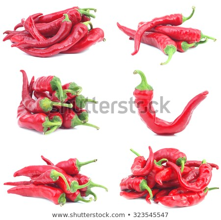 Pile of three red chili peppers Stock photo © Cipariss