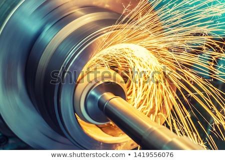 Stockfoto: Procede · productie · metaal · versnellingen · zwarte · business