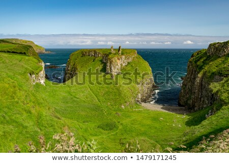 ruins of Dunseverick Castle, County Antrim, Northern Ireland Stock photo © phbcz
