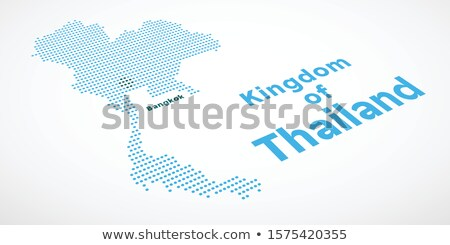 Map of Kingdom Thailand with Dot Pattern Stock photo © Istanbul2009