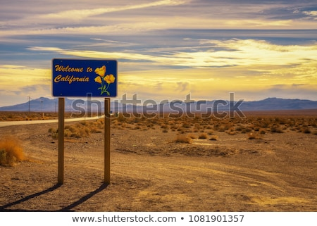 Entering the Death Valley Stock photo © rmbarricarte