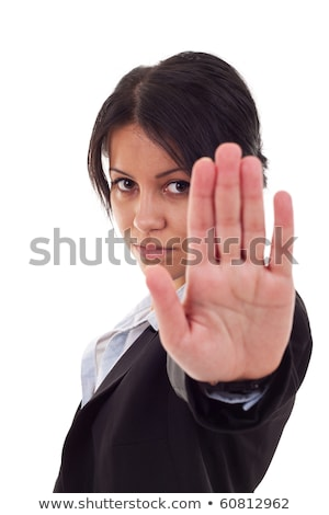 серьезный · деловая · женщина · знак · остановки · Focus · стороны - Сток-фото © Sonar