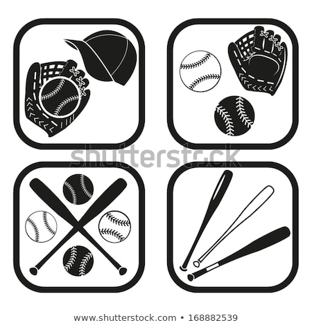 eldiven · beysbol · sopası · deri · ahşap · masa · tablo - stok fotoğraf © andreypopov