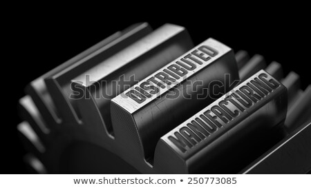 Distributed Manufacturing on Metal Gears. Stock photo © tashatuvango