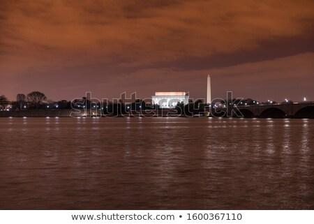 tükröződések · alatt · cseresznyevirágzás · Washington · DC · cseresznyevirág · fesztivál - stock fotó © rmbarricarte