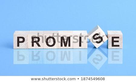 ígéret kék puzzle fehér bizalom megállapodás Stock fotó © tashatuvango