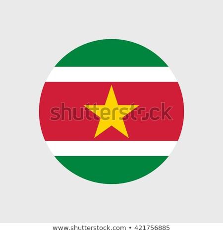 квадратный икона флаг Суринам металл кадр Сток-фото © MikhailMishchenko
