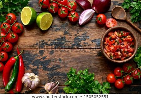 Salsa malzemeler sıcak domates Stok fotoğraf © JamiRae