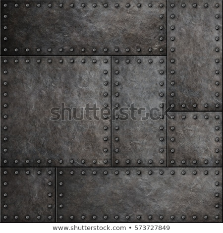 Rusty metal plate with rivets Stock photo © njnightsky