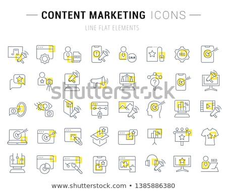 social internet square vector yellow icon design set stock photo © rizwanali3d