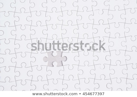 Foto stock: Positividad · rompecabezas · que · falta · piezas · brillante · verde