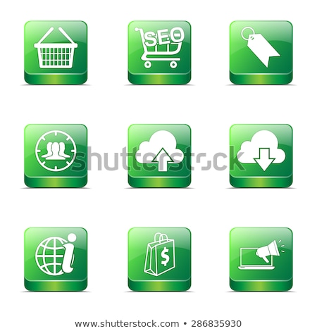 seo internet sign square vector green icon design set 7 stock photo © rizwanali3d