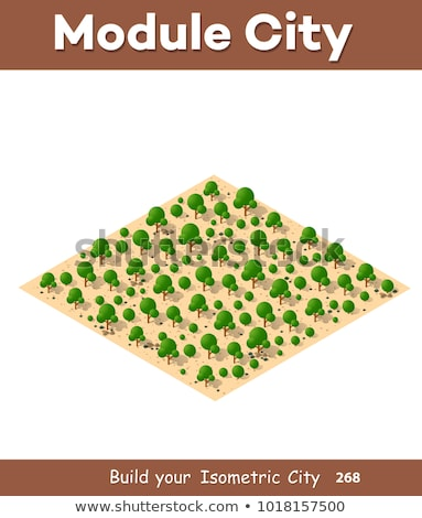 animals in the landscape isometric view stock photo © teerawit