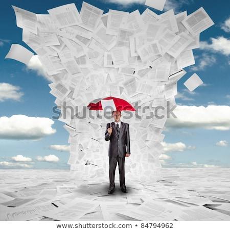 Confiança papel palavra assinar documento etiqueta Foto stock © fuzzbones0
