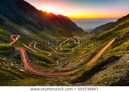 Montanha estrada Romênia coberto dente carro Foto stock © pixachi