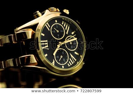 Dourado negócio relógio homens acelerar ouro Foto stock © ozaiachin
