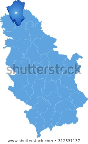 map of serbia subdivision north backa district stock photo © istanbul2009