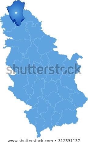 Térkép Szerbia észak kerület ki izolált Stock fotó © Istanbul2009