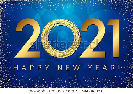 abstract blue new year calender Stock photo © pathakdesigner