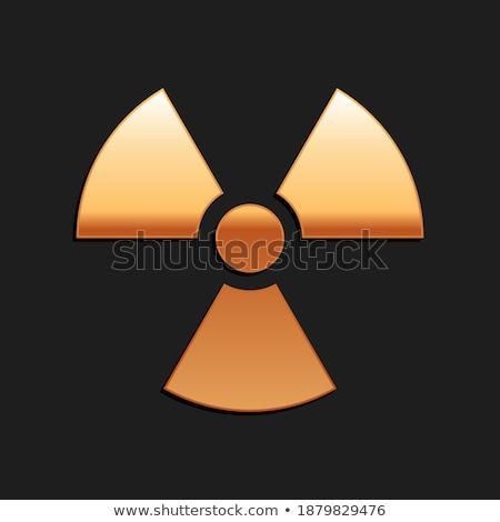 Radioattivo segno vettore icona design Foto d'archivio © rizwanali3d