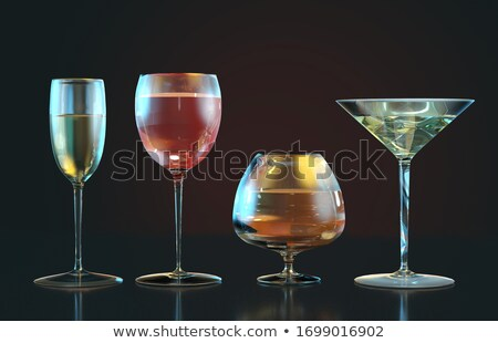 Stock photo: Whine glasses row