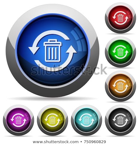 Recycle Bin Purple Vector Icon Button Stock photo © rizwanali3d
