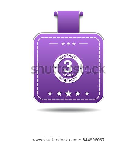 Ans garantie violette vecteur icône design Photo stock © rizwanali3d