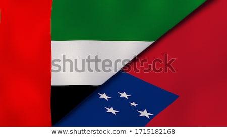 Emirados Árabes Unidos Samoa bandeiras quebra-cabeça isolado branco Foto stock © Istanbul2009
