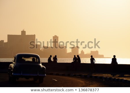 zonsondergang · Cuba · kust · eiland · caribbean · zee - stockfoto © prill