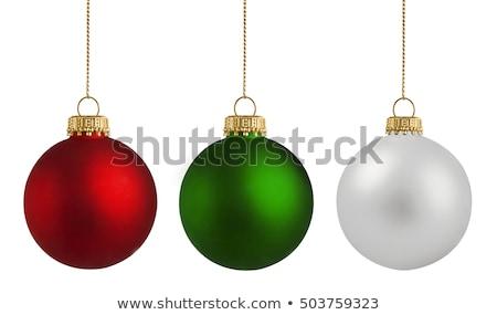 緑 グリッター クリスマス ボール 孤立した 白 ストックフォト © plasticrobot