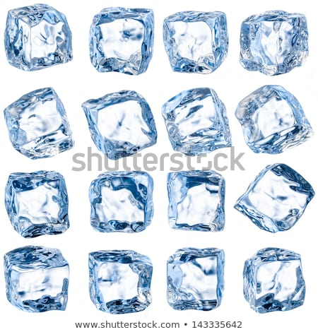 blue ice cube isolated on a white Stock photo © shutswis