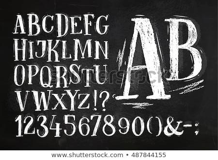 grunge · stijl · alfabet · nummers · brieven · collectie - stockfoto © pakete