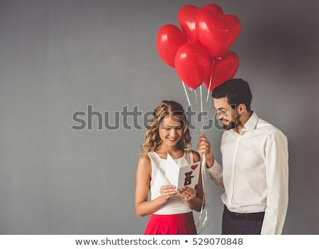 man valentine day surprise box love gift stock photo © studiostoks