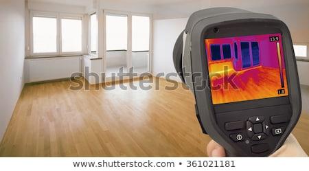 hő · szivárgás · infravörös · felfedezés · kép · szoba - stock fotó © smuki