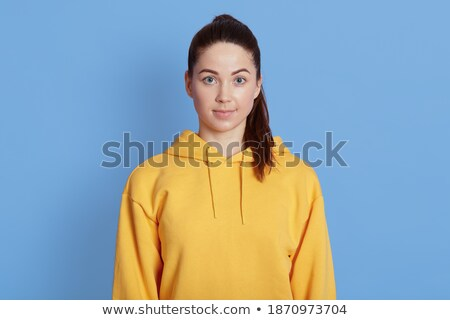 Pretty lady with trendy, coloring coiffure Stock photo © majdansky