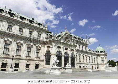 horse statue at belvedere palace in summer vienna stock photo © meinzahn