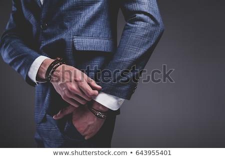 Giovani attrattivo macho alla moda uomo Foto d'archivio © zurijeta